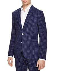 Paul Smith London Polka Dot Seersucker Slim Fit Sport Coat Blue Seersucker