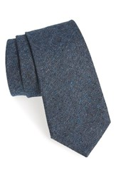 Michael Bastian Men's Solid Silk And Cotton Tie Navy