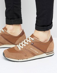 Tommy Hilfiger Maxwell Leather Trainers Brown