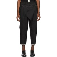 Ziggy Chen Black Panelled Trousers
