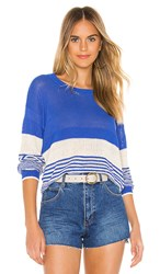Splendid Cove Pullover In Blue. Heritage Blue And Natural
