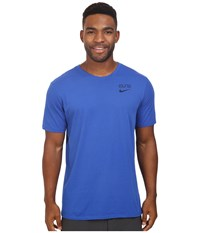 Nike Elite Back Stripe Tee Game Royal Game Royal Obsidian Men's T Shirt Blue