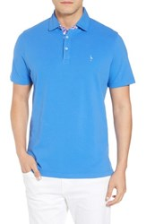 Tailorbyrd Print Trim Polo Delft Blue