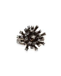 Oscar De La Renta Crystal Firework Cocktail Ring Jet