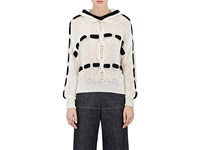 Spencer Vladimir Women's Hooded Loose Knit Sweater No Color