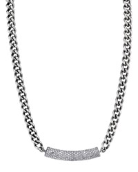 Sheryl Lowe 7Mm Short Curb Chain And Diamond Necklace