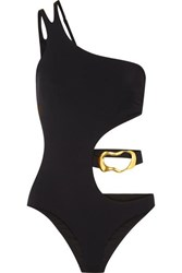 Agent Provocateur Sierah Embellished Cutout Swimsuit Black