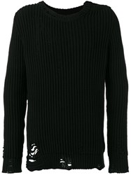 Faith Connexion Ripped Trim Jumper Black