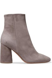 Vince Ridley Suede Ankle Boots Gray