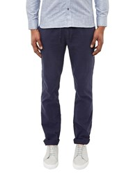 Ted Baker Mangal Drawstring Chino Trousers Navy