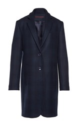Martin Grant Tailored Checked Men's Coat Navy