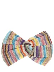 Missoni Striped Viscose Knit Lame Headband Multicolor