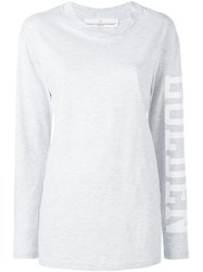 Golden Goose Deluxe Brand Long Sleeve Over T Shirt Women Cotton Xs Grey