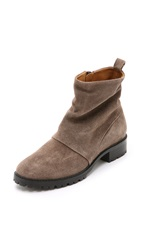 Coclico Tallini Suede Flat Booties Squirrel