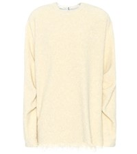 Victoria Beckham Wool And Cotton Blend Sweater White