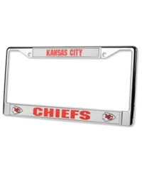 Rico Industries Kansas City Chiefs License Plate Frame Chrome Team Color