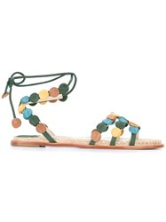 Paloma Barcelo Lace Up Sandals