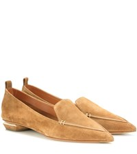 Nicholas Kirkwood Beya Velvet Loafers Brown