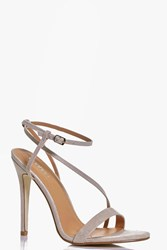 Boohoo Open Back Two Part Sandal Nude