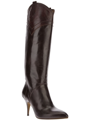 Maison Martin Margiela Calf Length Boots Brown