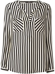 Steffen Schraut Striped Blouse Nude And Neutrals