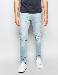 Farah Skinny Jeans In Stretch Bleach