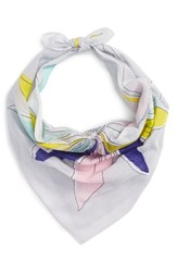 Echo Women's Floral Cotton Scarf Light Shadow