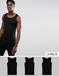 French Connection 3 Pack Lounge Vest Black