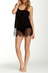 Joe's Jeans Sheer Mesh Slip Black