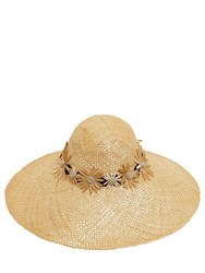 Kreisi Couture Bau Margherite Embroidered Straw Hat