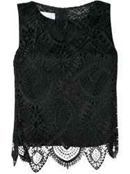 Dondup Crochet Top Black