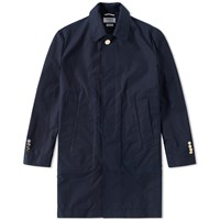 Thom Browne Packable Bal Collar Overcoat Blue