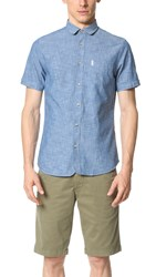 Ben Sherman Short Sleeve Chambray Shirt Oxford Blue