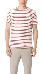 Ben Sherman Short Sleeve Engineer Breton Stripe Tee Turtledove