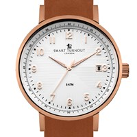 Smart Turnout Ltd Scholar Watch Tan Leather Edition White
