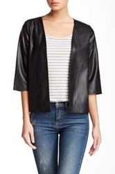 Valette Pleather Jacket Black