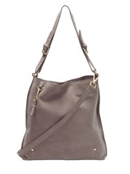 White Stuff Aurelia Suede Hobo Bag Taupe