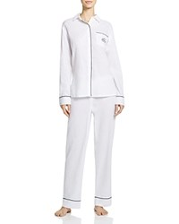 Ralph Lauren Textured Woven Tailored Crisp Pajama Set White
