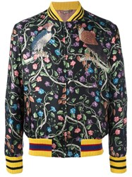 Gucci Floral Bomber Jacket Black