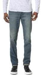 Blk Dnm 31 Mid Rise Slim Straight Fit Jeans Links Blue