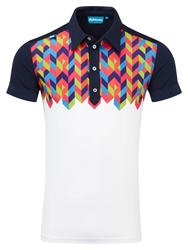 Bunker Mentality Pattern Polo Regular Fit Polo Shirt Navy