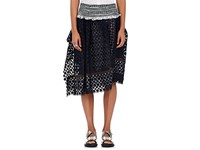 Kolor Women's Lace Ruffle Skirt Navy