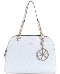 Guess Jayne Medium Satchel White