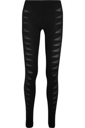 Rick Owens Devore Stretch Jersey Leggings Black