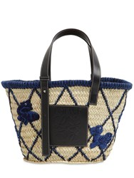 Loewe Medium Woven Animal Straw Basket Bag Natural