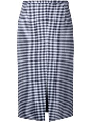 Michael Kors Checked Skirt White