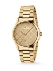 Gucci G Timeless Stainless Steel Bracelet Watch Gold