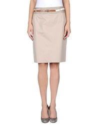 X's Milano Knee Length Skirts Beige