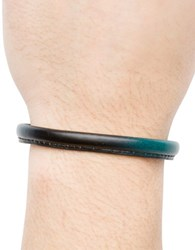 Hook Albert Leather Bangle Bracelet Teal