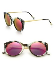 Illesteva Palm Beach 49Mm Cat's Eye Sunglasses Horn
